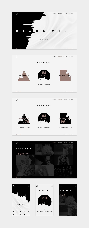 Black milk web design