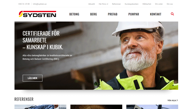 sydsten.se web site development