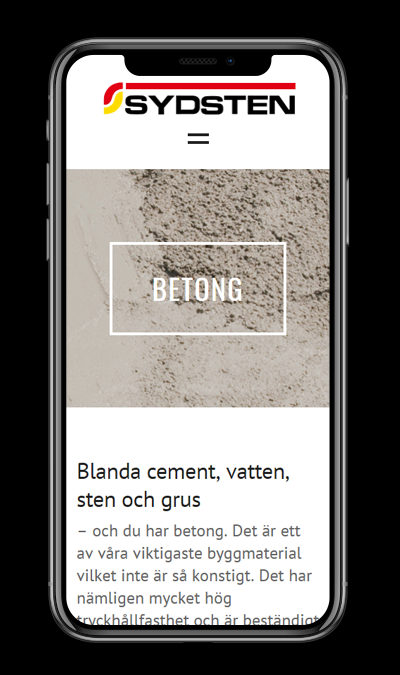 sydsten.se - mobile design