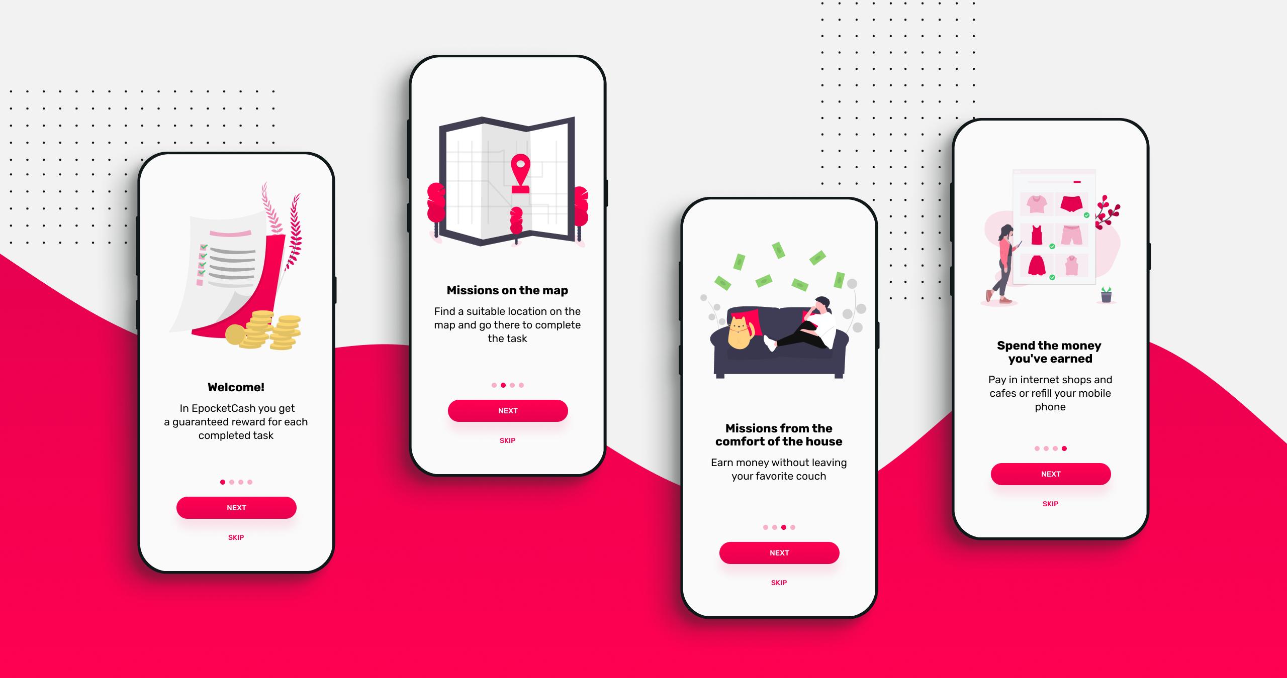 epocketcash mobile application