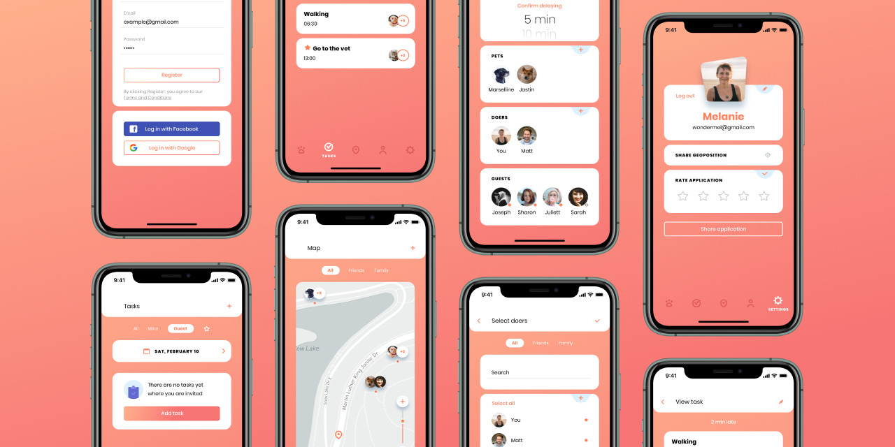 petsstep pets mobile application
